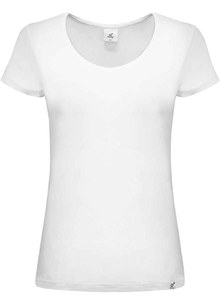 Boody V Neck T Shirt White - Small