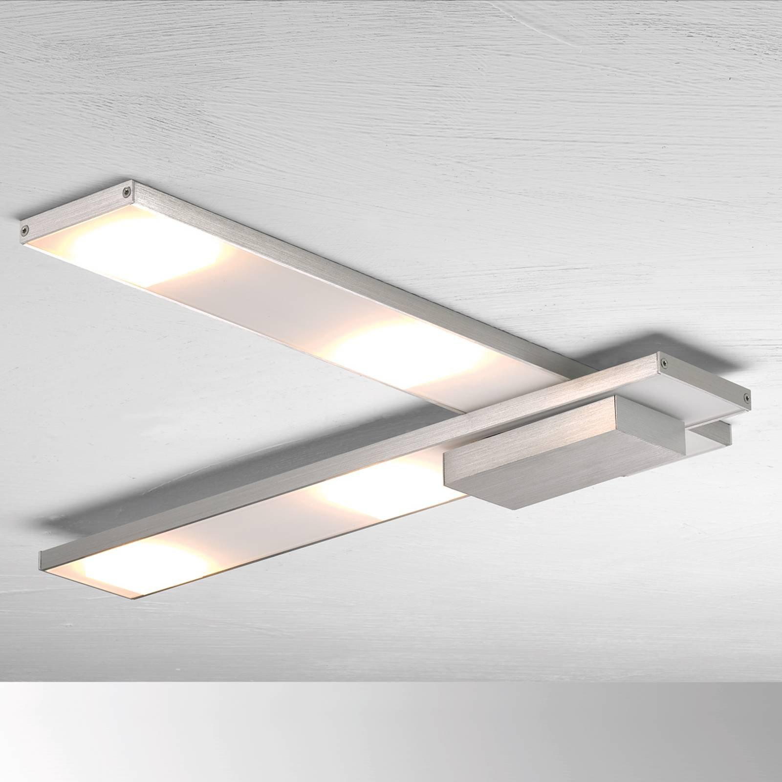 Raffinert LED-taklampe Slight, aluminium
