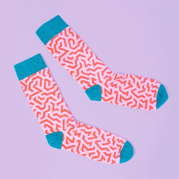 Geometric Zig Zag Socks