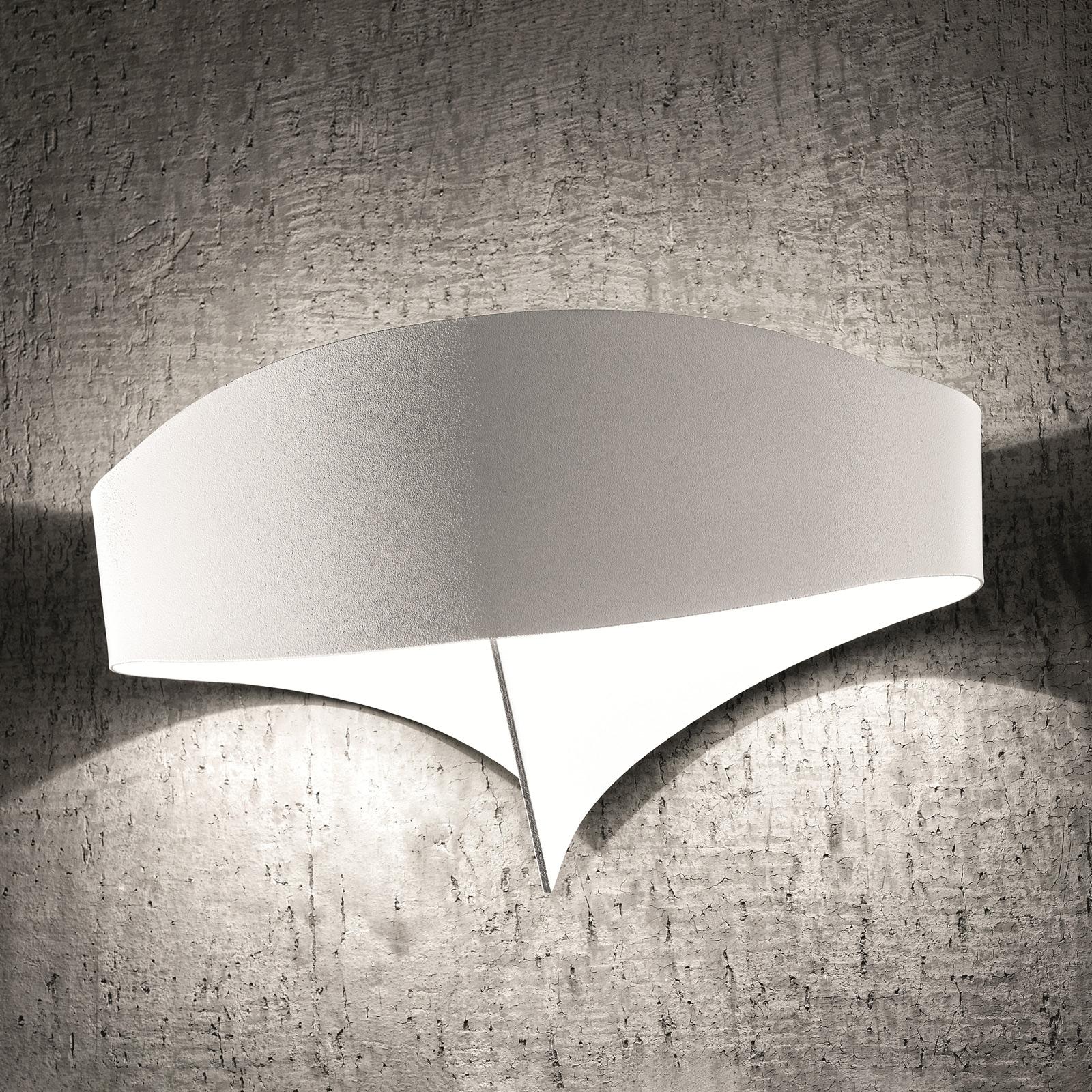 Teräksinen LED-seinävalaisin Scudo, valkoinen