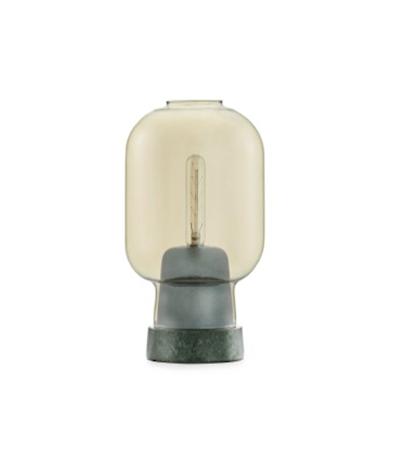 Amp Bordslampe Gull/Grønn