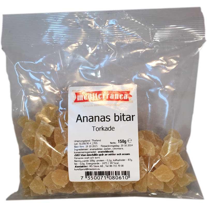 Ananasbitar torkade - 67% rabatt