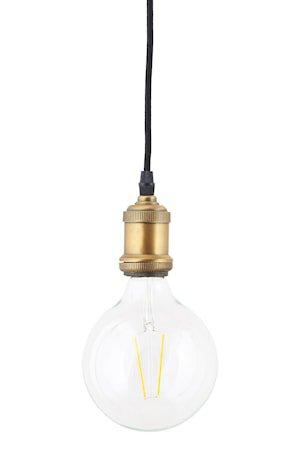 LED Lampe dimbar E27 17,5x12,5 cm - Klar