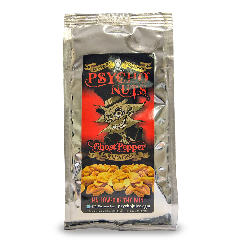 Psycho Nuts Ghost Pepper Peanuts 80g