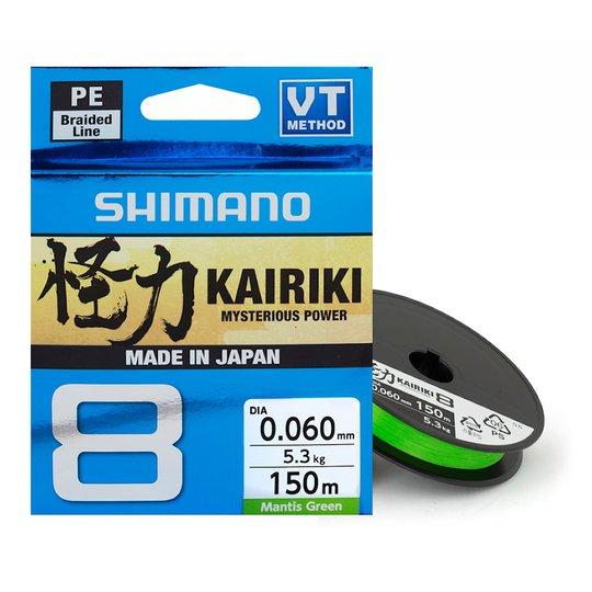 Shimano Kairiki 8 Mantis Green 150 m flätlina