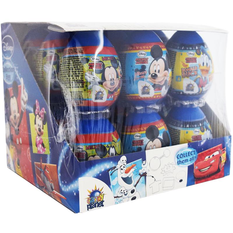 """Hel Låda Överraskningsägg """"Mickey Mouse"""" 18 x 5,5g - 48% rabatt"""