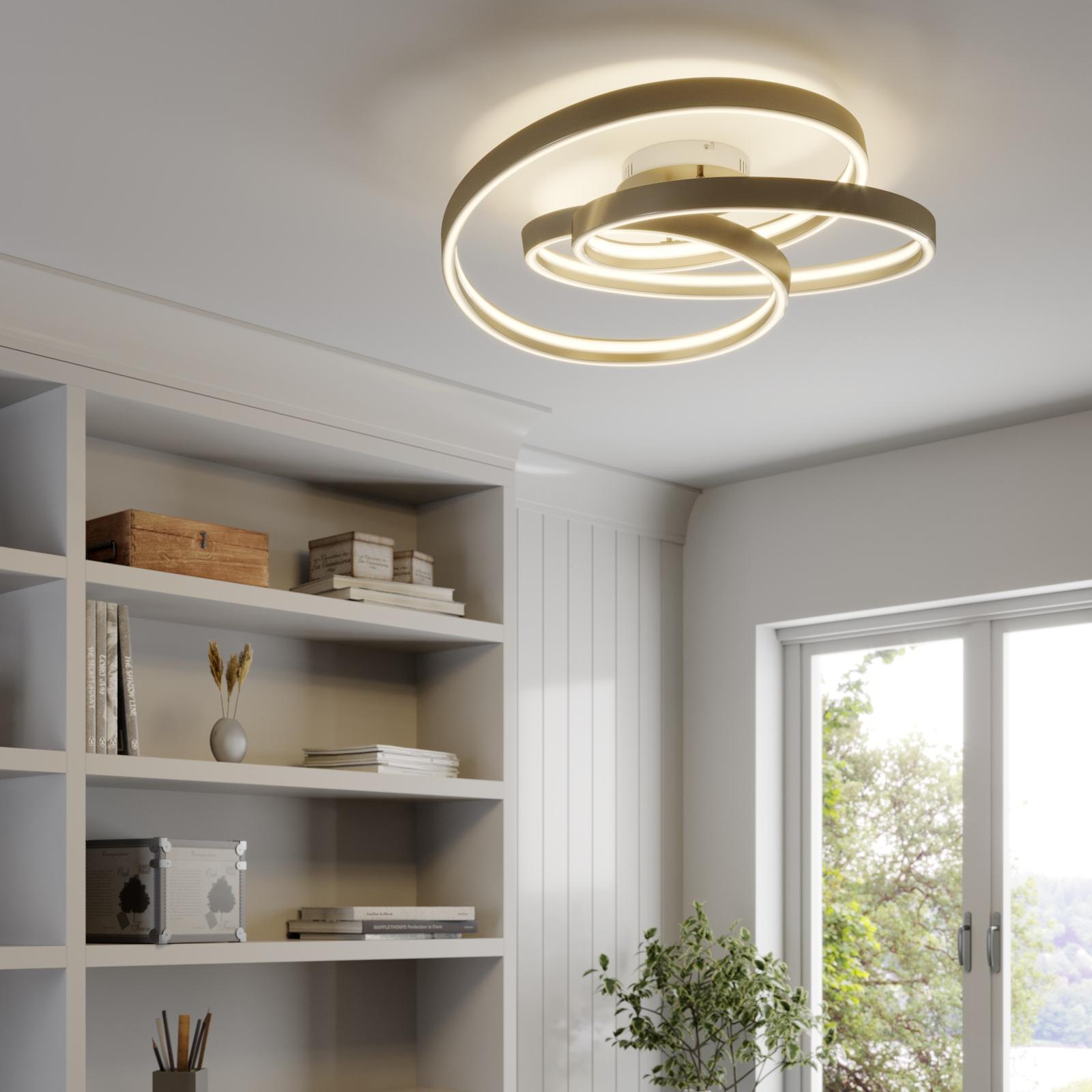 Lucande Gunbritt -LED-kattovalaisin, 80 cm