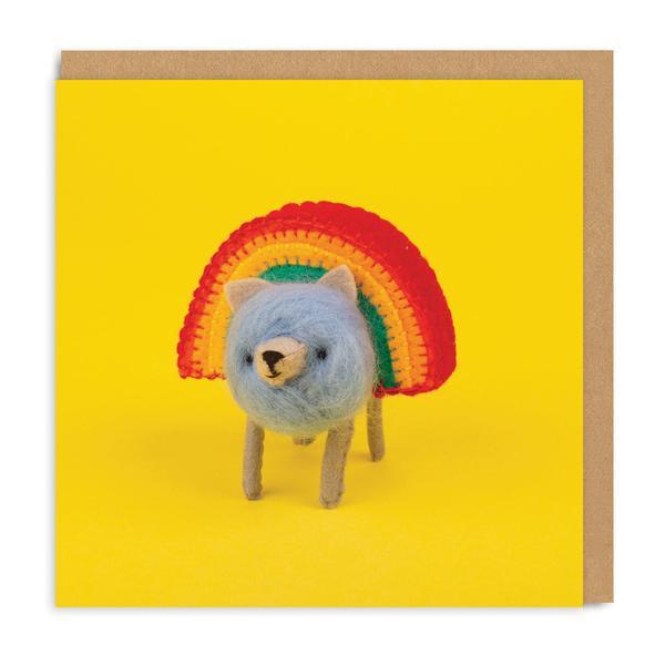 Rainbear Square Greeting Card