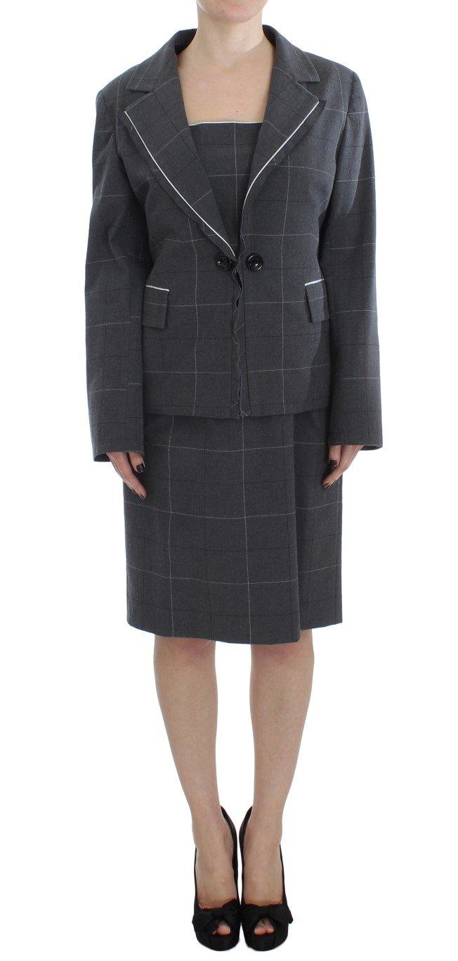 BENCIVENGA Women's Stretch Sheath Dress Suit Set Gray SIG30900 - XXL
