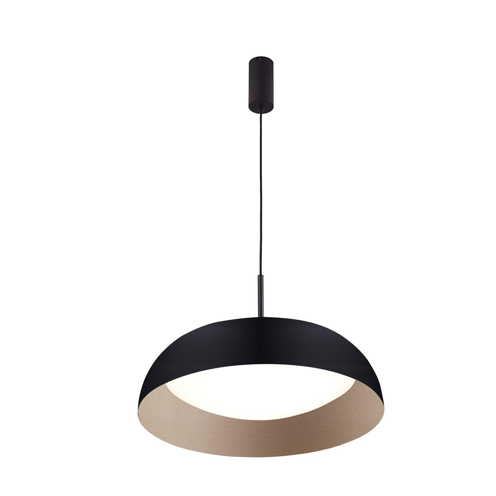 Arcchio Karuna -LED-riippuvalaisin, musta-kulta