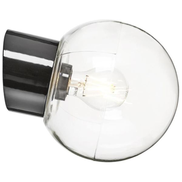 Ifö Electric 6045-510-16 Veggarmatur klar, skrå, IP54 Svart