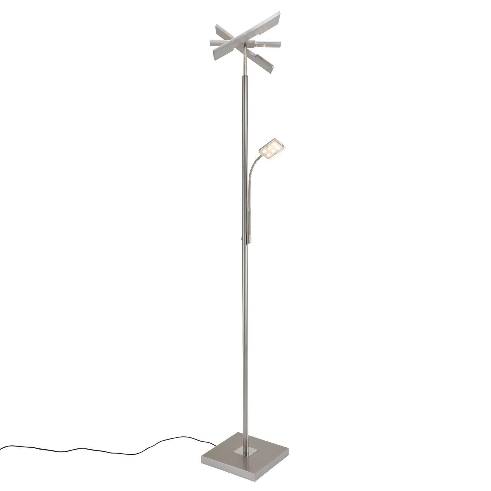 LED-uplight Floor 1328-022 kantet med lesearm