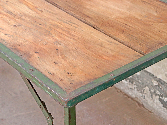 Vintage Folding Table - Green Medium