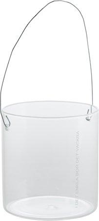 Hengelykt i glass d8 h8 cm