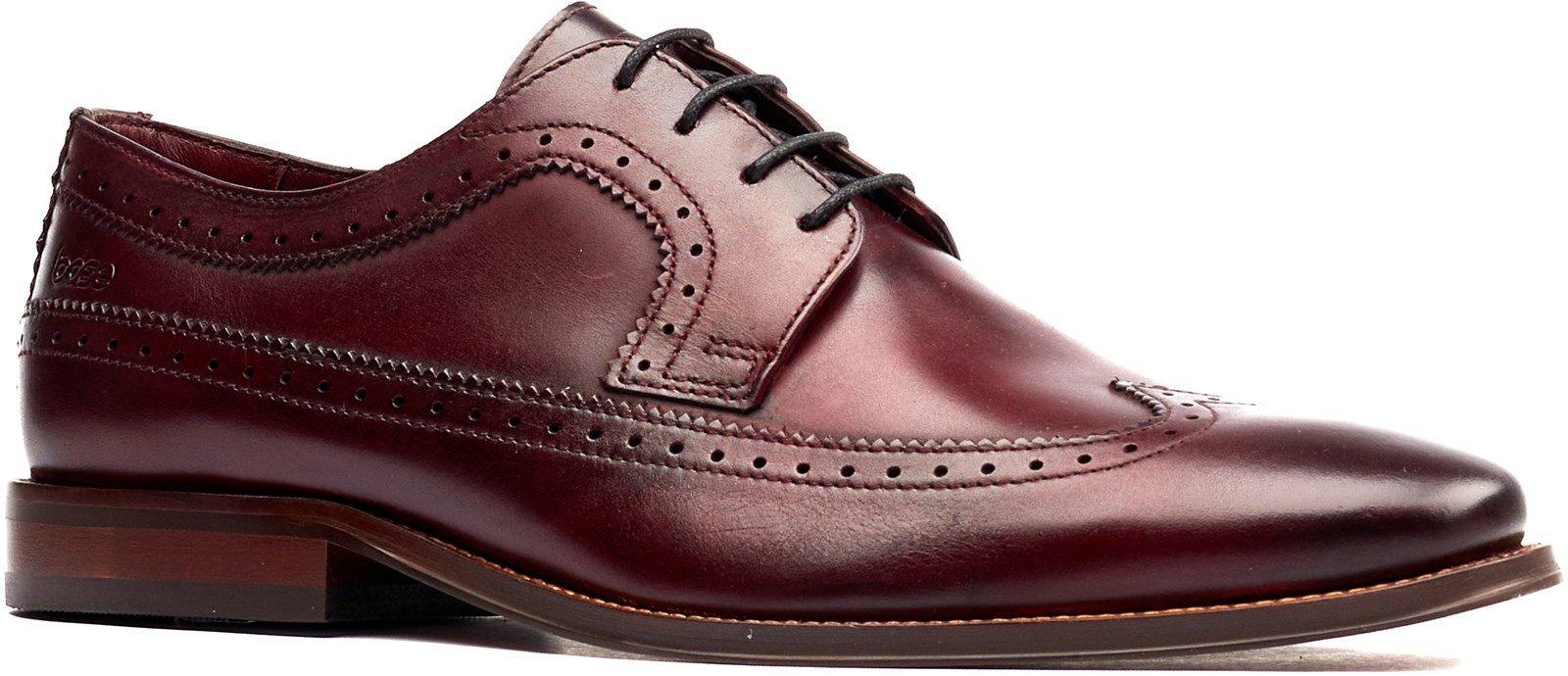 Base London Men's Havisham Plain Toe Derby Shoe Various Colours 32247 - Bordeaux 7
