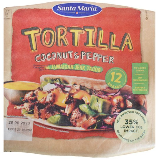 Tortilla Coconut & Pepper - 15% alennus