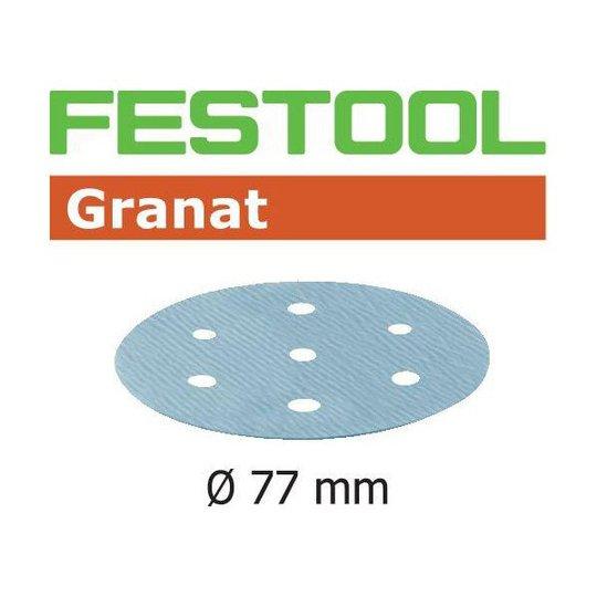 Festool STF GR Hiomapaperi 77mm, 6-reikäinen, 50 kpl P180