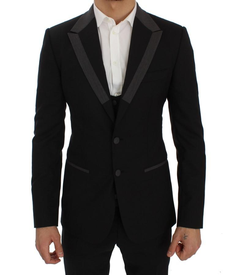 Dolce & Gabbana Men's Wool Stretch Slim Blazer Jacket Black SIG30894 - IT46 | S