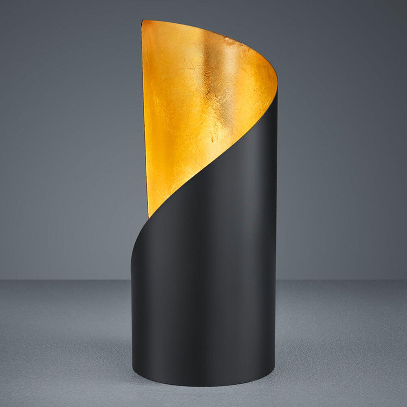 Bordlampe Frank – svart og gull