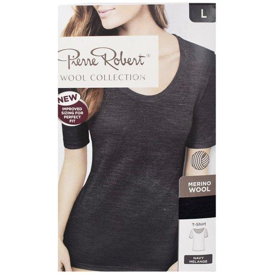 "T-shirt ""Navy Melange"" Large - 54% rabatt"