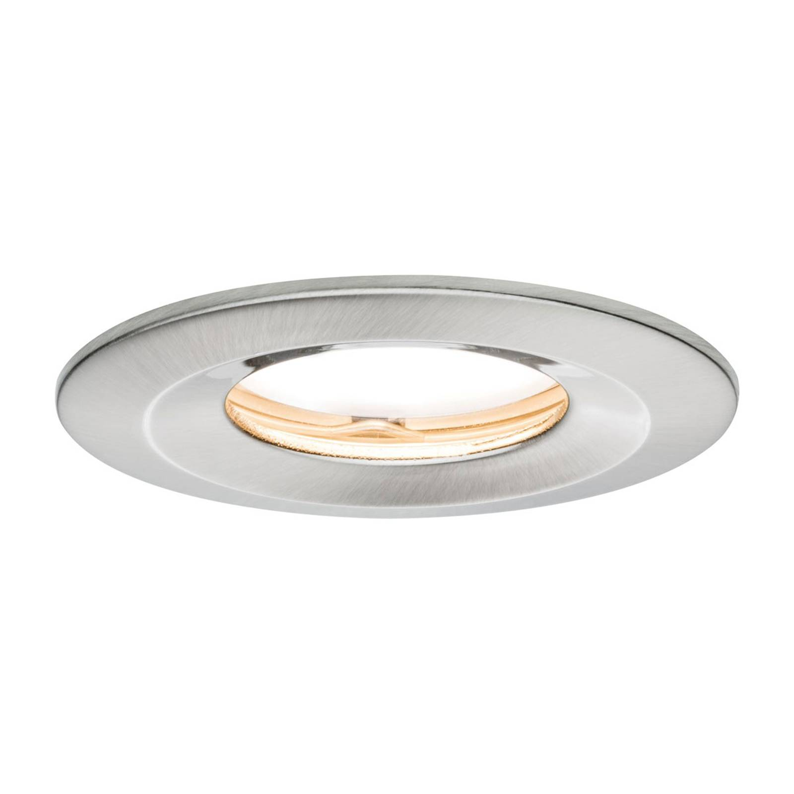Paulmann LED-spotti Slim Coin himmennys IP65 rauta