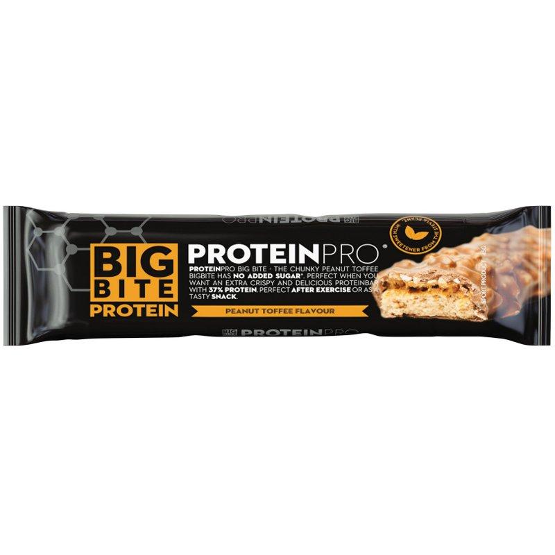 "Proteinbar ""Big Bite Peanut & Toffee"" 45g - 20% rabatt"