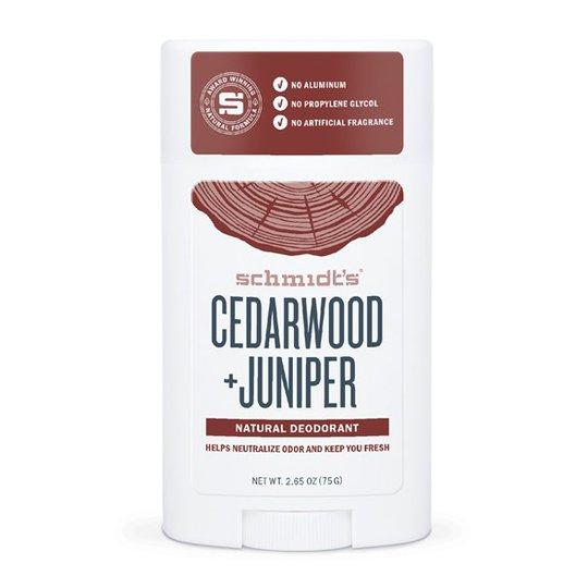 Schmidts Naturals Deodorant Stick Cedarwood + Juniper, 75 g