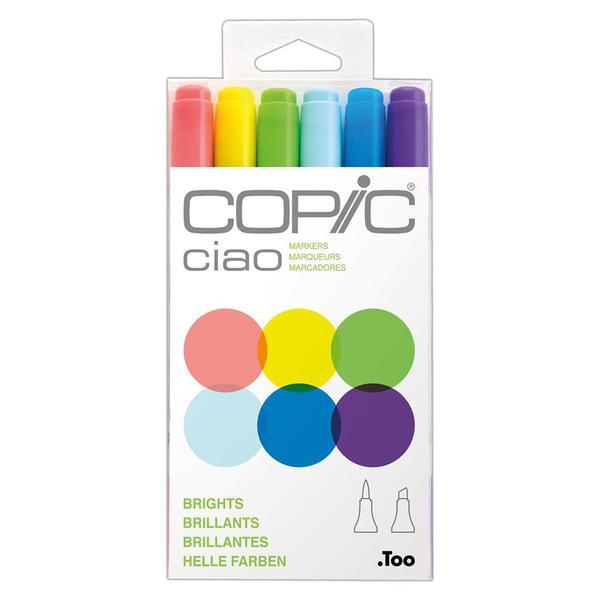 Copic Ciao Pens 6pcs Set - Brights