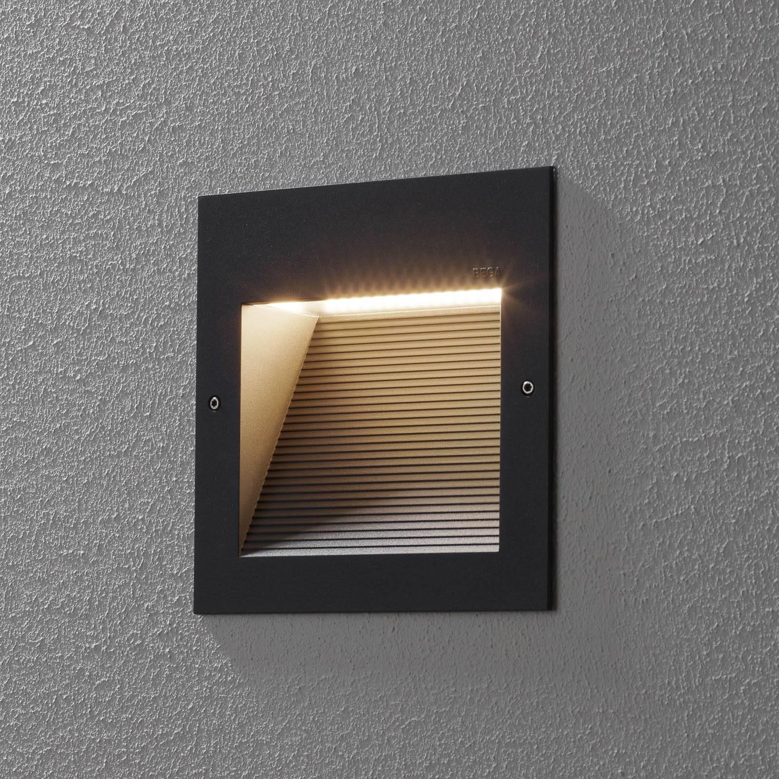 BEGA 24203 LED-seinäuppovalo 3000K himm. grafiitti