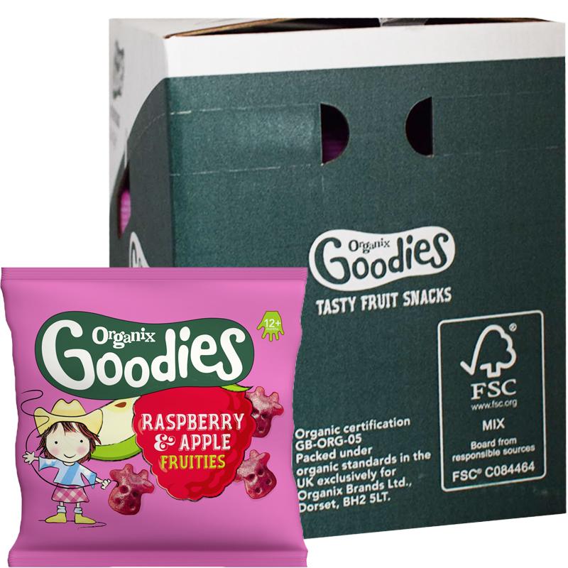 Barnsnacks Raspberry & Apple Fruities 20-pack - 34% rabatt