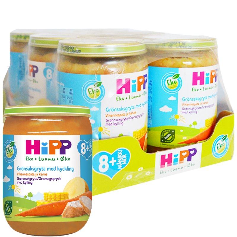 Laatikollinen lastenruokaa kasvis & kanapata 6 x 190 g - 78% alennus