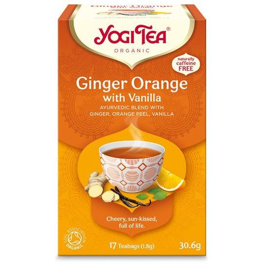 Yogi Tea Ginger Orange with Vanilla, 17 påsar