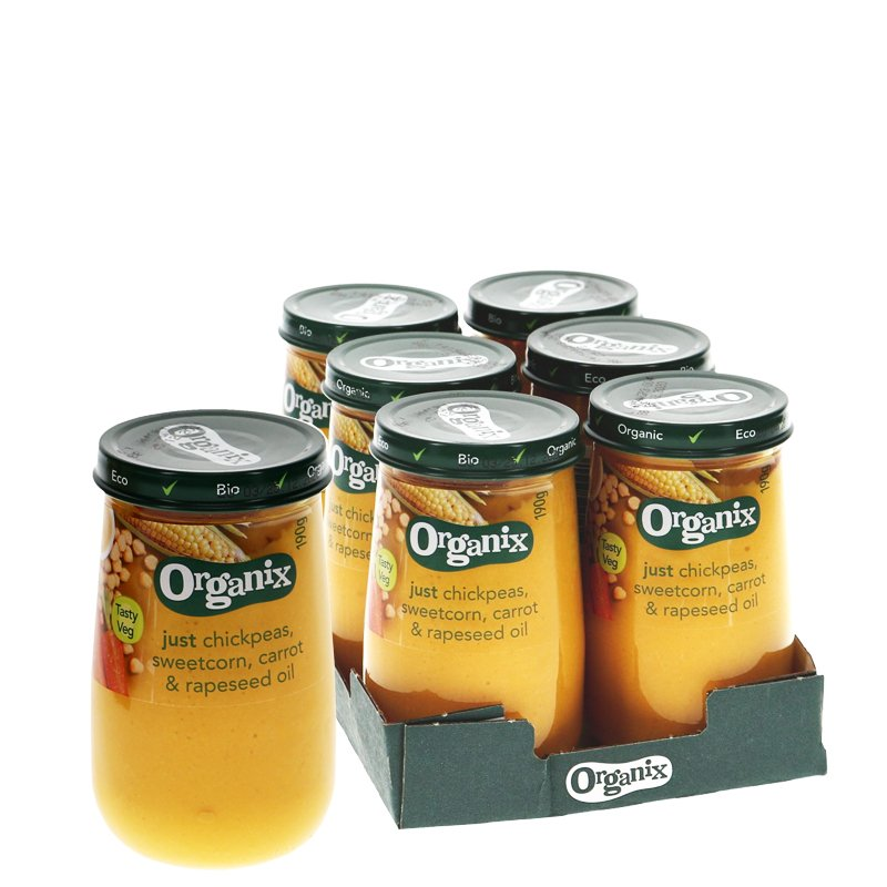Lastenruoka Kikherne, Maissi & Porkkana 6kpl - 22% alennus