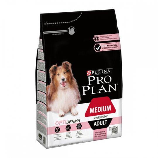 Purina Pro Plan® OptiDerma® Adult Medium Sensitive Skin Salmon (3 kg)