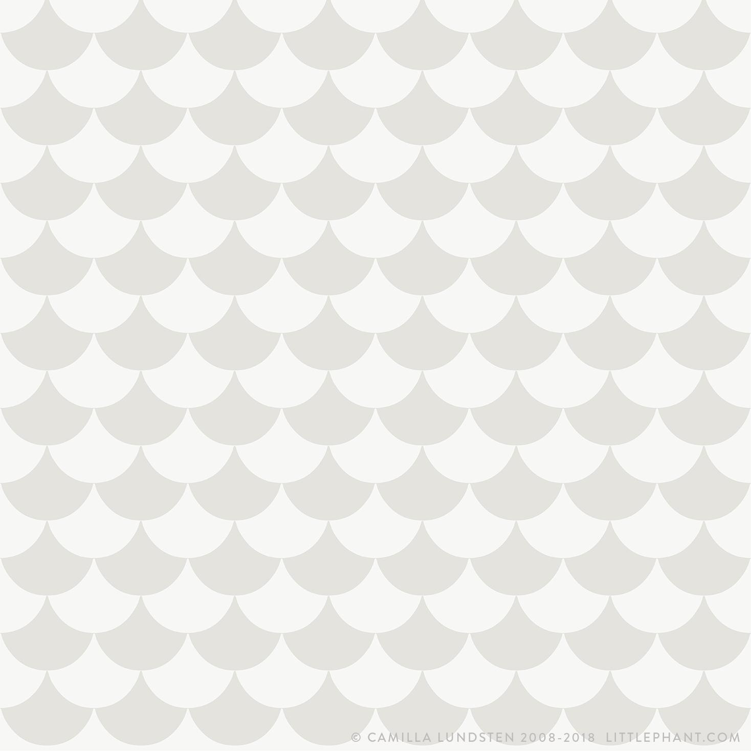 Tapet Waves - Light grey, Littlephant