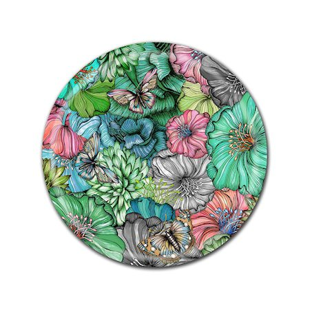 Nadja Wedin Design Brett 38 cm Flower Power Grønn
