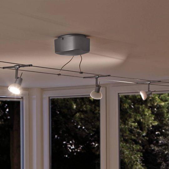Kuuden lampun vaijerijärjestelmäsetti Sheela LED