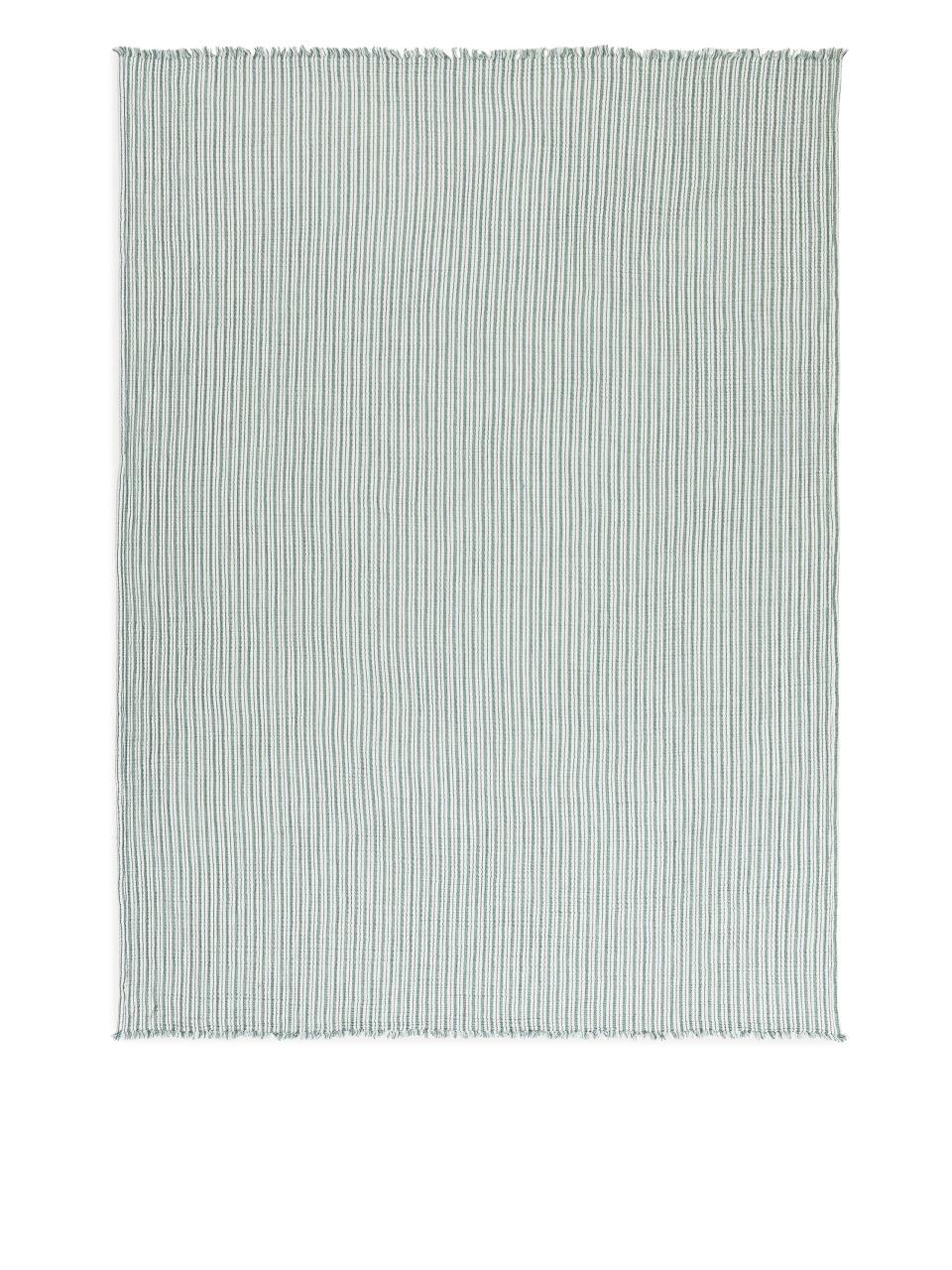Woven Cotton Blanket - Green