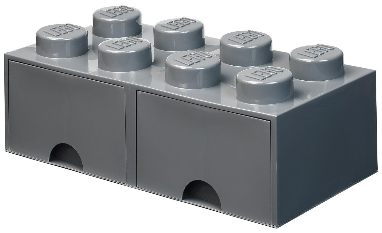 LEGO Säilytyslaatikko Vetolaatikoilla 8, Dark Grey