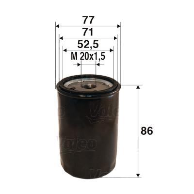 Öljynsuodatin VALEO 586027