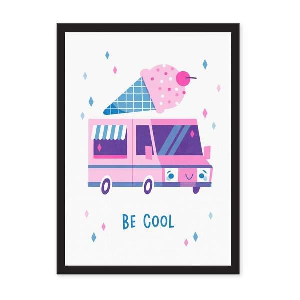 A4 Ice Cream Truck Riso Print