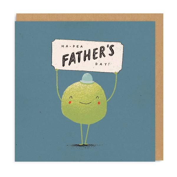 Ha-Pea Square Fathers Day Greeting Card