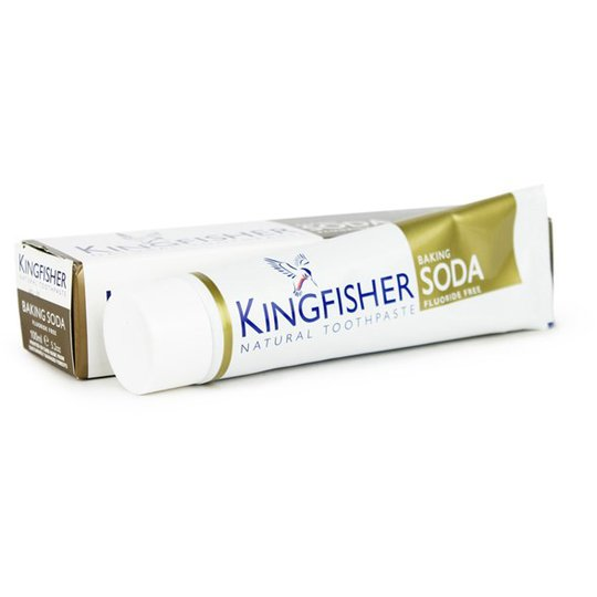 Kingfisher Fluorfri Tandkräm Bikarbonat & Mintsmak, 100 ml