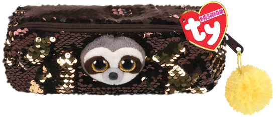 Ty Plush - Sequin Pencil Case - Dangler the Sloth (TY95851)