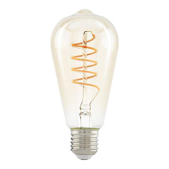 LED-lamppu E27 ST64 4W Spiral, kirkas