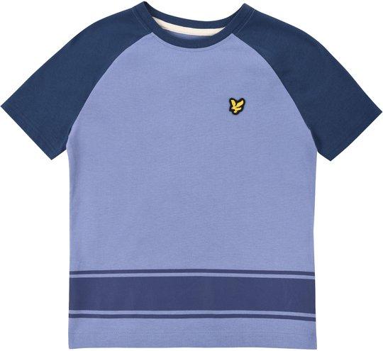 Lyle & Scott Junior Ringer Raglan T-Shirt, Mid Blue 8-9år