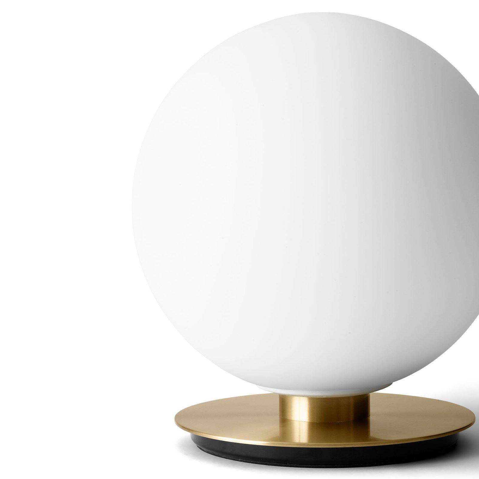 Menu TR Bulb DTW bordlampe 22 cm messing/opal matt