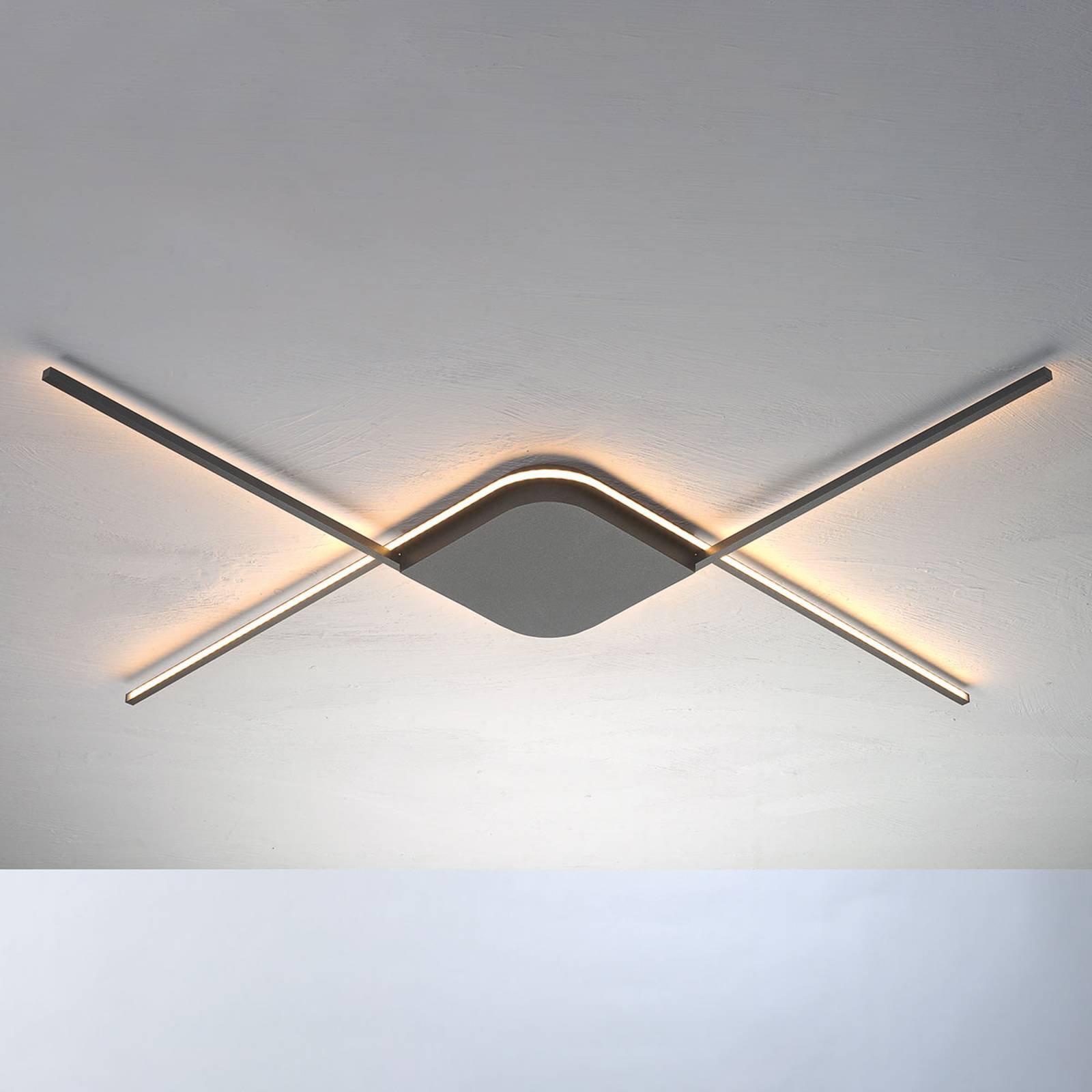 Bopp Less - LED-taklampe, antrasitt