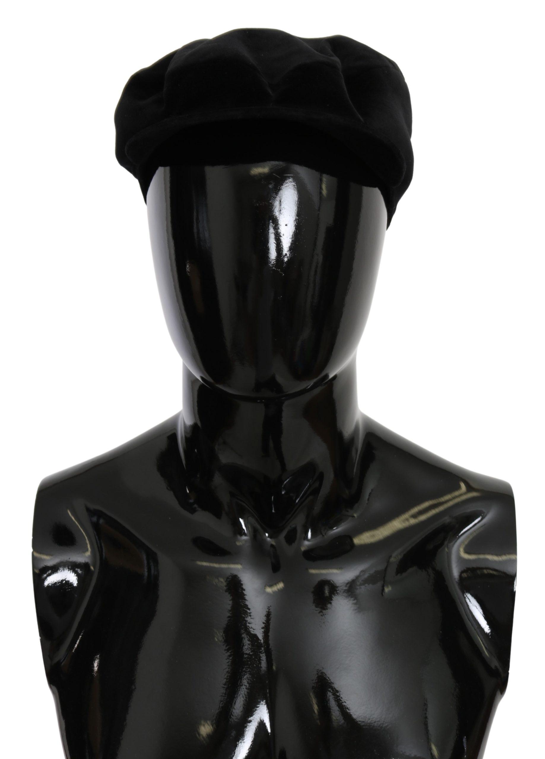 Dolce & Gabbana Men's Capello Cotton Stretch Hat Black HAT9090 - 58 cm M