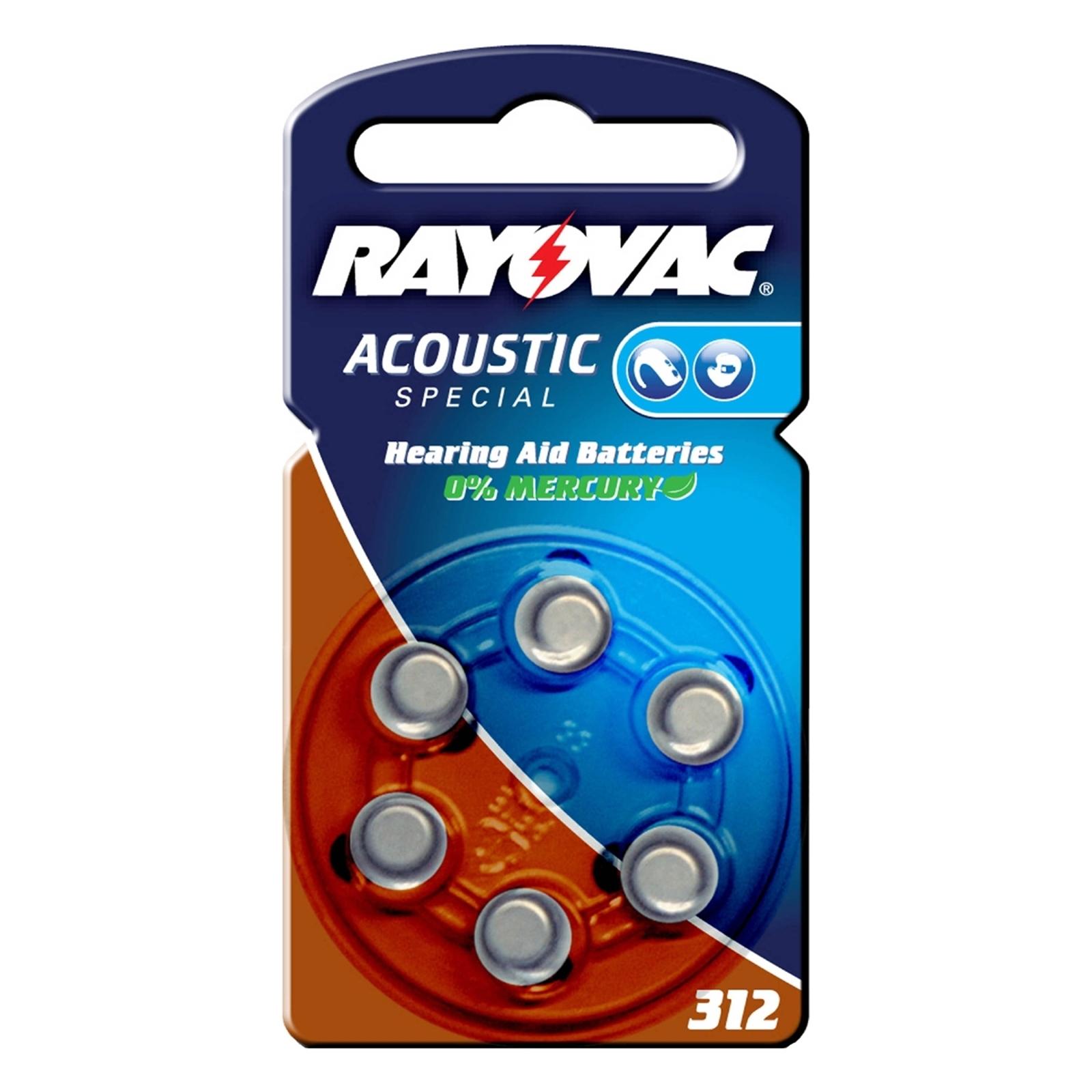 nappiparisto Rayovac 312 Acoustic 1,4 V, 180m/Ah